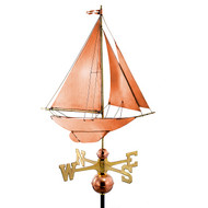 Good Directions Racing Sloop Weathervane - Polished Copper 909P