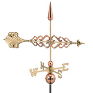 Good Directions Smithsonian Arrow Weathervane - Polished Copper 954P