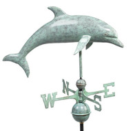 Good Directions Dolphin Weathervane - Blue Verde Copper 9507V1
