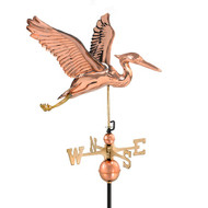Good Directions Blue Heron Weathervane - Polished Copper 9606P