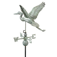 Good Directions Blue Heron Weathervane - Blue Verde Copper 9606V1