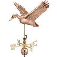 Good Directions Flying Duck Weathervane - Polished Copper 9613P