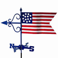 Good Directions American Flag Garden Weathervane - w/Garden Pole  836G