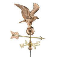 Good Directions Eagle Garden Weathervane - Polished Copper w/Garden Pole  8815PG