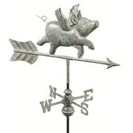 Good Directions Flying Pig Garden Weathervane - Blue Verde Copper w/Roof Mount  8840V1R