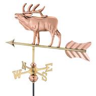Good Directions Elk Garden Weathervane - Polished Copper w/Roof Mount 8848PR