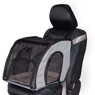 "K&H Travel Safety Carrier Small Gray Pet Car Seat 17"" x 16"" x 15"" KH7660"