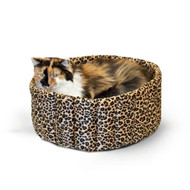"K&H Lazy Cup Small Leopard Pet Bed 16"" x 16"" x 7"" KH9121"