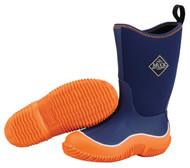 Muck Boot Kids Hale Orange & Navy Blue Winter Snow Boots KBH-444