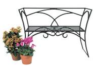 Achla Arbor Bench with Back Decorative Garden Bench AR-03
