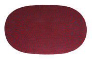 "Achla Minuteman 24"" x 48"" Braided Wool Rug Regal Oval Rug H-73"