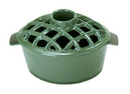 Achla Minuteman 2.2 qt Enamel Steamer - Lattice Top   T-50-GR