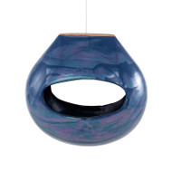 Achla Calabash Bird Feeder Blue   BF-22BL