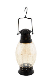 Achla Crackle Glass Lantern Apricot Ice  CRL-01AP