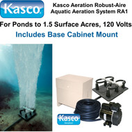 Kasco Aeration Robust-Aire Aquatic Aeration System RA1 120 Volt & Base Cabinet