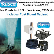 Kasco Aeration Robust-Aire Aquatic Aeration System RA1-PM 120 Volt & Post Mount