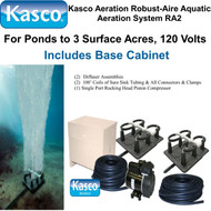 Kasco Aeration Robust-Aire Aquatic Aeration System RA2 120 Volt & Base Cabinet