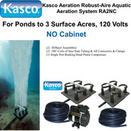 Kasco Aeration Robust-Aire Aquatic Aeration System RA2NC 120 Volt No Cabinet