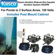 Kasco Aeration Robust-Aire Aquatic Aeration System RA2PM 120 Volt & Post Mount