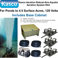 Kasco Aeration Robust-Aire Aquatic Aeration System RA3 120 Volt & Base Cabinet
