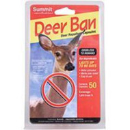 Groundbreaking Deer Repellent Technology.  Unique Gel-tablet Application provides 100% effective Year-Round Protection from Wildlife Damage!      Contains Predator Urine triggering animal flight response     No Hand Contact with repellent ingredients     Natural and Bio-degradable     Water Activated, does not wash away in rain or snow     90 Day Protection     Odorless to Humans     Easy application, drop capsules around coverage area or place in planters. Add water to activate repellent.     Perfect around gardens and ornamentals  Other repellents contain rotten eggs, garlic, or similar foul smelling substances. If you have ever applied these products you are well aware that they are likely to repel you and your family more than wildlife.  Deer Ban™ is odorless to humans, but animals, with their extreme sense of smell are easily affected.