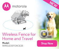 Motorola Wireless Dog Fence for Home and Travel - WIRELESSFENCE25