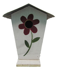 Bird-N-Hand Distressed Wood Flower Birdhouse Decorative Bird House SM25