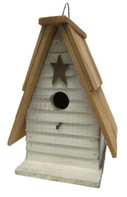 Bird-N-Hand Distressed Wood Siding A-Frame Birdhouse Decorative Bird House SM34