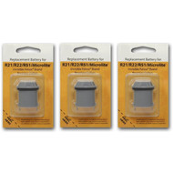 3 Invisible Fence R21 R22 and R51 Compatible Replacement Dog Collar Battery