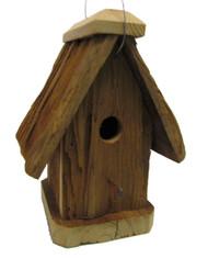 Bird-N-Hand Natural Wood Rustic Wren House Birdhouse Decorative Bird House RBH30