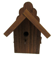 Bird-N-Hand Natural Wood Wren House Birdhouse Decorative Bird House PWD36