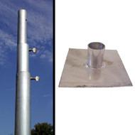Birds Choice Heavy Duty 3Section 12' Telescoping Pole PMHD12 & Base Plate PMBP01