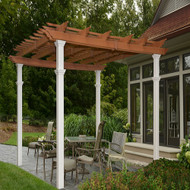 New England Arbors Bordeaux Two Tone 10 x 10 Pergola VA84056