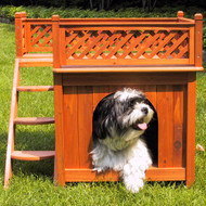 Merry Pet Room With A View Wood Dog House Pet Shelter MPS002