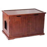 Merry Pet Cat Washroom Walnut Bench Litter Box Cover MPS012