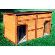 Merry Pet Flat Top Duplex Decorative Dog House PTH0330012012