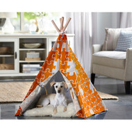 Merry Pet Cat Dog Pet Orange Puzzle Large Teepee PTP0040203200