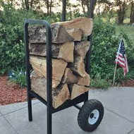Woodhaven Log Firewood Cart