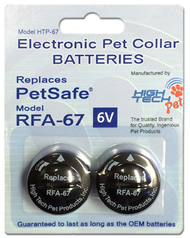 High Tech Pet HT-RFA67-2 Replacement Battery Replaces PetSafe RFA-67D-11 Battery Replaces RFA-67 (HT-RFA67-2)