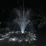 Oase 1/4 HP Floating Fountain With 3 Foutain Heads and 3 LED Lights 45383