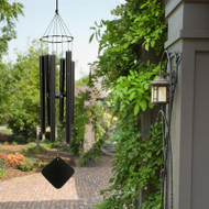 "FREE SHIPPING    The Soprano wind chime is our smallest chime, its sound is delicate yet brilliant. One of our most popular tunings, the major Pentatonic scale is the most widely used melodic scale in the world, dating from ancient Greece. Its pattern is familiar as the black notes of the piano keyboard. The chime contains all the notes to ""Amazing Grace"" as well as ""The Eyes of Texas"". It blends best with the Hawaiian. This chime is perfect for apartment dwellers or small patios. Soprano chimes measure 30 inch tall from the top of knot to the base of the windcatcher.     These enchanting wind chimes blend old world craftsmanship with the latest in technology - harmonizing art and science to uplift the spirit and delight the senses. Music of the Spheres® Windchimes with its matte black, powder coated aluminum-alloy tubing will never rust and will always look elegant. These wind chimes make great gifts and are an artistic addition to any garden. They are modern, functional, and simplistic in design. Group several wind chime sizes and tunings together to create your own symphony.     Pentatonic Soprano Chime:      Overall Length: 30""     Longest tube: 15""     Tube Diameter (O.D.): 7/8""     Weight: 2 lbs.     Manufacturer's Warranty"