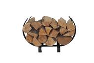 Enclume Small U Shaped Log Rack Indoor /Outdoor Textured Bronze Poder Coat (LR32TB
