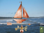 Good Directions Racing Sloop Weathervane With Arrow- Polished Copper 909PA