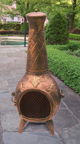 Oakland Living Cast Iron Grape Vine Chiminea 55 inch