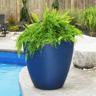 Mayne Modesto 30 Inch Round Planter Neptune Blue 8884-NB
