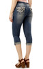 Luscious Curvy Bling Denim Capris In Riley