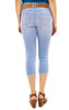 Luscious Curvy Crop Jeans with Single Roll Cuff In Ellie