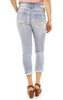 Luscious Curvy Crop Jeans with Frayed Roll Cuff In Skyler