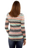 Long Sleeve Pullover In Navy Stripe