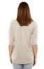 High-Low Elbow Sleeve Top with Lace Pocket In Grey Violet